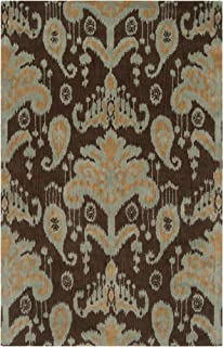 B. Smith by Surya Mosaic MOS-1080 Transitional Hand Tufted 100% New Zealand Wool Hot Cocoa 9' x 13' Global Area Rug