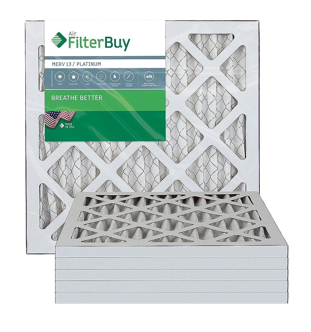 FilterBuy 16x16x1 MERV 13 Pleated AC Furnace Air Filter, (Pack of 6 Filters), 16x16x1 – Platinum