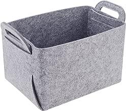 gray felt basket