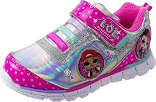 L.O.L. Surprise! Shoes, Light Up Sneaker and Athletic Tennis Shoes with Strap, MC Swag and Rocker, Little Girl/Big Girl Size 10 to 2, Ages 4+