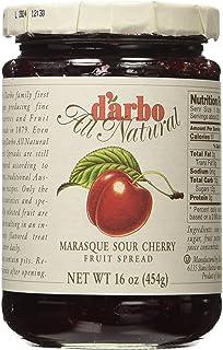 d'arbo All Natural Fruit Spread Marasque Sour Cherry, 16 Ounce