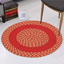 "Dynamic Homes Handicraft Style 1 Piece Cotton Blend Door Mat - 16""x24"", Orange and Beige"