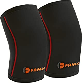 Knee Support Sleeve (Pair) for Men and Women, Best for Running, Weight Lifting, Cross Training Sports Exercise - Compression Brace with 5mm Thickness, Lightweight Neoprene Fabric for Comfortable Fit