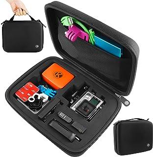 CamKix Medium Fall für GoPro Hero 4, 3 + 3, 2, 1 und Zubehör   Ideal für Reisen oder Home Storage   umfassenden Schutz für Ihr GoPro Camera   Mikrofaser Reinigungstuch Inklusive (Medium, Schwarz)