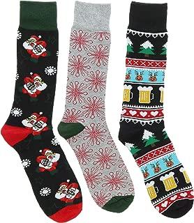 Men's Christmas Dress Socks (3Pr),