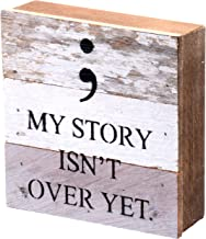 Second Nature By Hand My Story Isn't Over Yet - Reclaimed Pallet Wood Wall Art, Handcrafted Decorative Plaque, 6