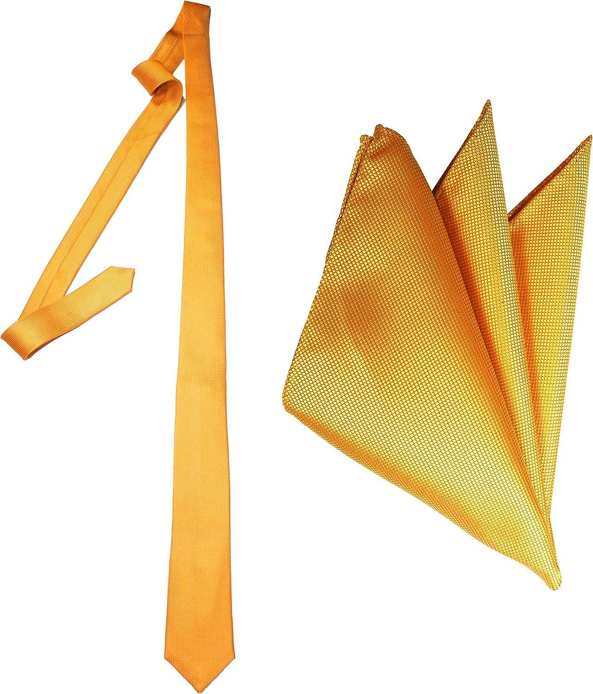 Skinny Silk Jacquard Tie and Pocket Square Set by Royal Silk