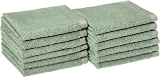 دستشویی سریع و سریع AmazonBasics - 100 C پنبه ، 12 بسته ، Seafoam سبز