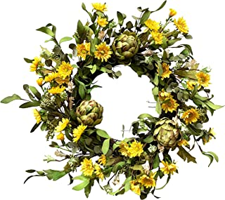 Best yellow and white daisy wreath Reviews