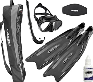 Cressi Adult High Level Free Diving Equipment | Gara Professional Set 2.0 made in Italy