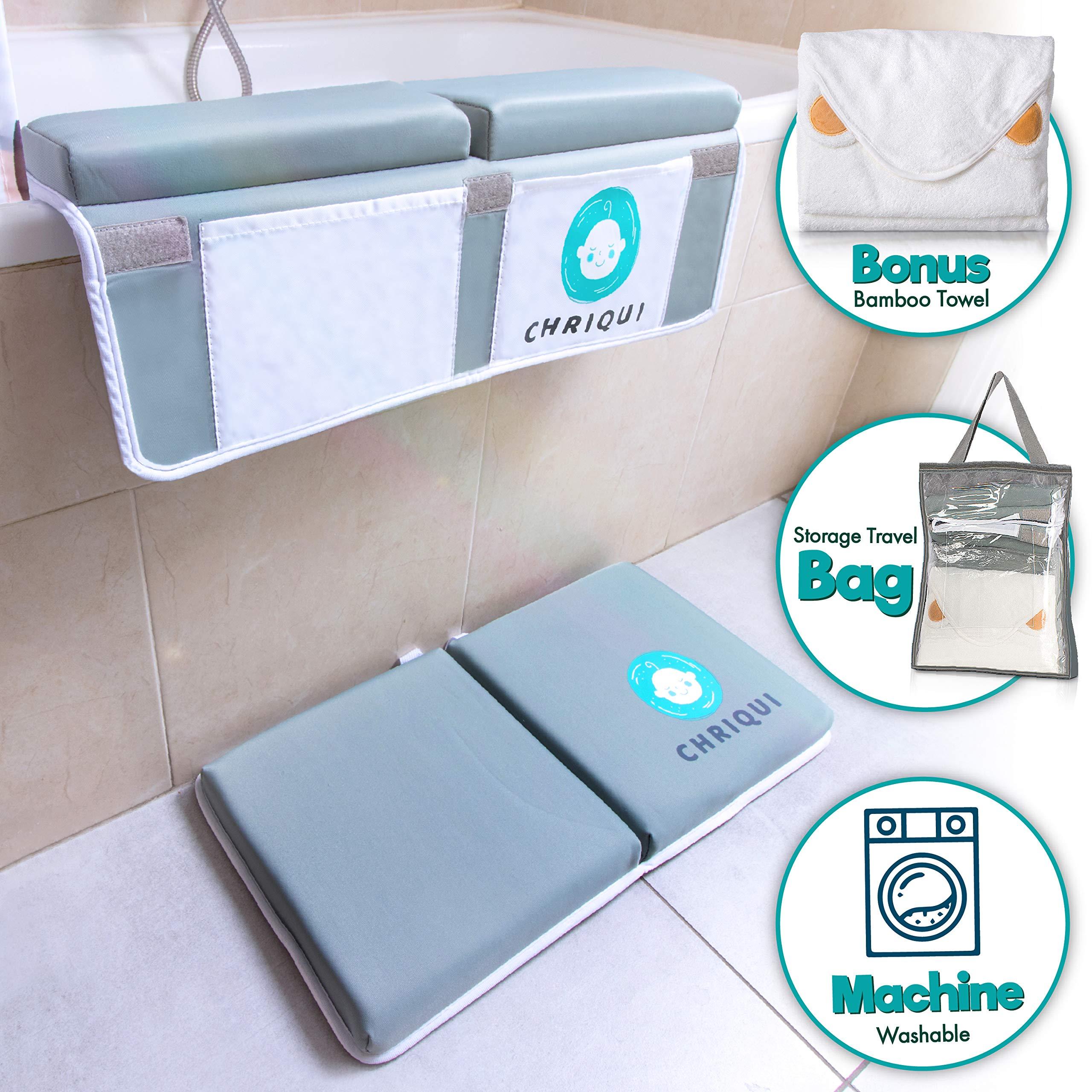 Hotaluyt Sponge Cushion Baby Bathtub Sling Newborn Bath Seat Support Net Bathtub Mesh Bathing Cradle