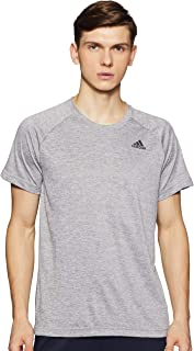 adidas Men's BJ8607 D2M Heathered T-Shirt, Medium Grey Heather, 2XL