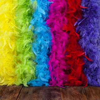 40g Feather Tinsel Boa Metallic Flapper Halloween Costume Accessory 5 COLORS