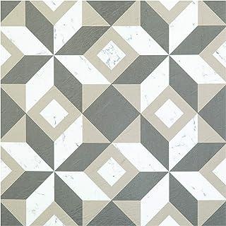 Achim Home Furnishings RTFTV60520 Retro 12x12 Self Adhesive Vinyl Floor Tile Marble-20 Tiles/20 sq. ft, Prism Marble