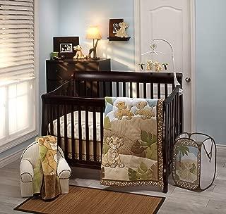 Disney Lion King Urban Jungle 4 Piece Nursery Crib Bedding Set, Tan/Aqua & Green/Tan/Aqua/Green/Ivory