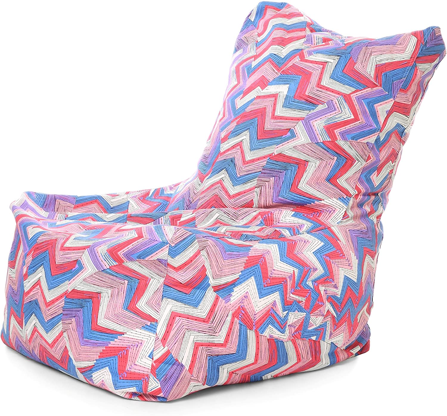 Style Homez Chair Cotton Canvas Geometric Printed Bean Bag XXL Size Cover Only