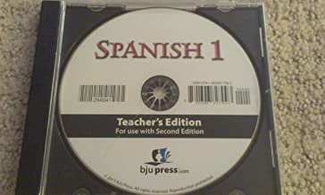 BJU Press Bob Jones Spanish 1 Second 2nd Edition Distance Learning Homeschool Teacher Edition CD