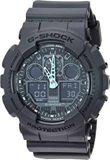 Casio Men's G-Shock Analog-Digital Watch GA-100C-8ACR,...