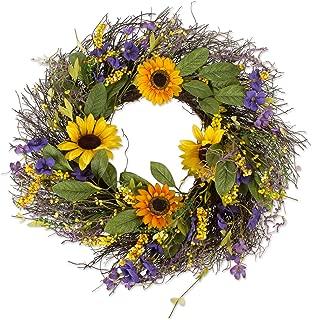 DII Decorative Seasonal Wreath Spring/Summer, Front Door or Indoor Wall Décor, 22