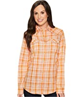 Wrangler - Long Sleeve Plaid Western Shirt