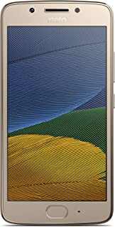 Motorola Moto G5 16GB with 2GB RAM (Single Sim) Factory Unlocked Smartphone - Fine Gold