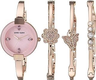 Women's AK/3262RGST Light Purple Swarovski Crystal Accented Rose Gold-Tone Watch and Bangle Set