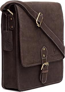 WILDHORN® Leather 10.5 inch Sling Messenger Bag for Men I Multipurpose Crossbody Bag I Travel Bag with Adjustable Strap I ...