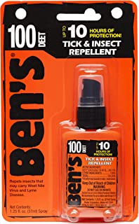 Ben's 100% Deet Mosquito, Tick and Insect Repellent - 1.25 Ounce Pump, 3.75 Fluid Ounces