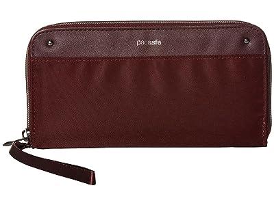 Pacsafe RFIDsafe Continental Wallet (Merlot) Handbags