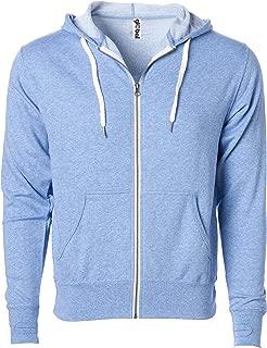 Global Blank Slim Fit French Terry Lightweight Zip Up Hoodie Jacket Men or Women