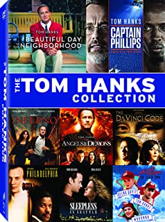 Tom Hanks Collection (Angels & Demons / A Beautiful Day in the Neighborhood / Captain Phillips / Da Vinci Code / Inferno (2016) / A League of Their Own (1992) / Philadelphia / Sleepless in Seattle) (Bilingual)