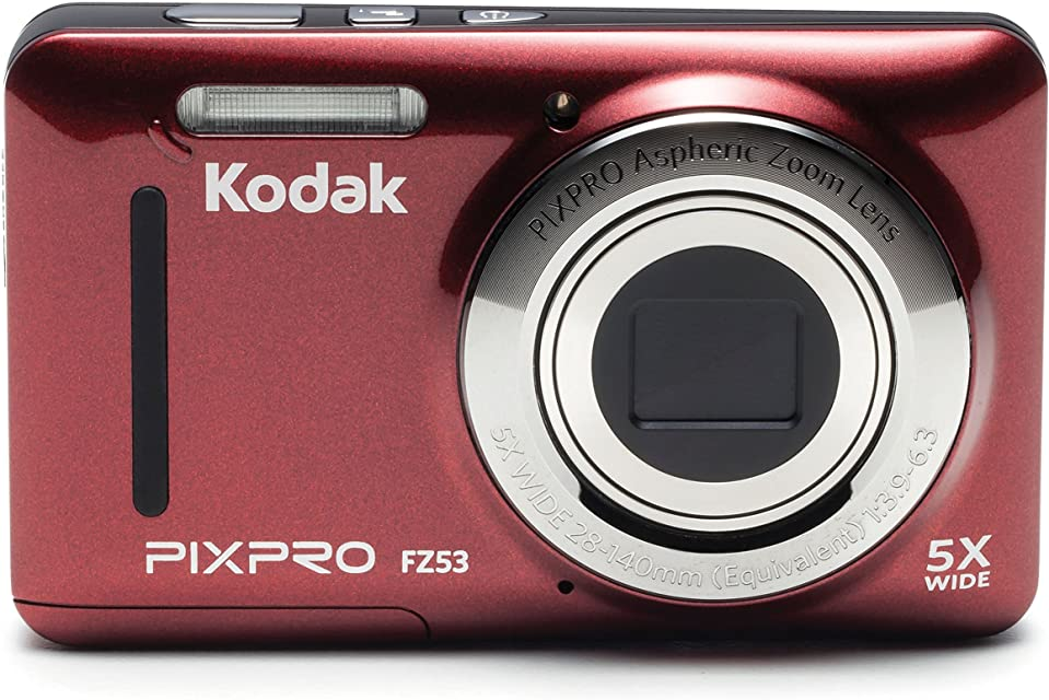Kodak PIXPRO FZ53 Cámara compacta 16MP 1/2.3 CMOS 4608 x 3456Pixeles Rojo - Cámara Digital (16 MP 4608 x 3456 Pixeles CMOS 5X Grabación de vídeo Rojo)