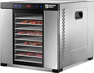 Magic Mill Food Dehydrator Machine   11 Stainless Steel Trays   Adjustable Timer and Temperature Control   Jerky, Herb, Me...
