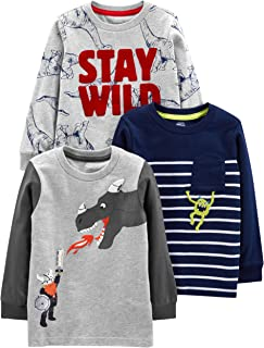 Simple Joys by Carter's Toddler Boys' 3-Pack Graphic Long-Sleeve Tees