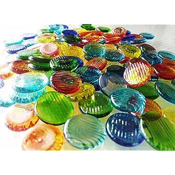 ガラスのおはじき オーロラカラーハジキ 約1.5cm/100個入り 日本メーカー Glass Counter