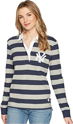 NY Yankees Striped Rugby Shirt