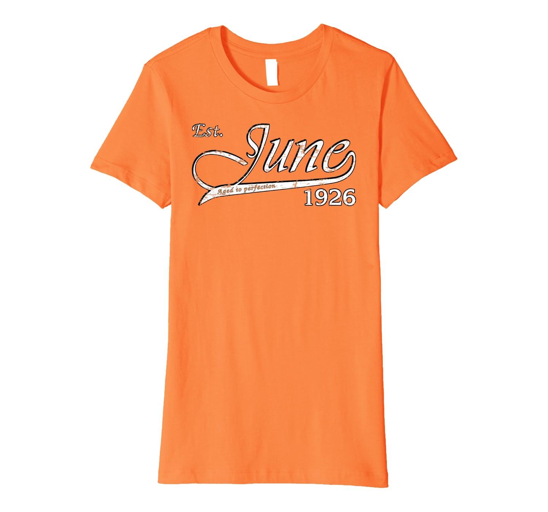 June 1926 B-day Tshirt – 93rd B-day Gifts For Men Women Premium T-Shirt-Yolotee