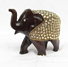 eCraftIndia Decorative Elephant Coated with Faux Crystals