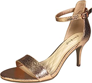 e46e83b75c78 BAMBOO Women s Mid Heel Single Band Sandal with Ankle Strap