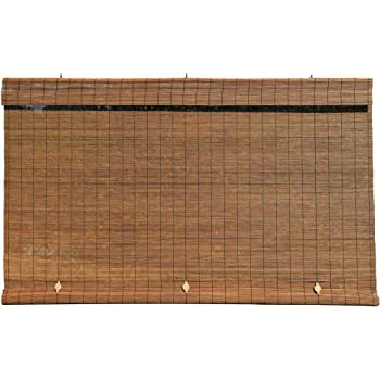 Radiance - Imperial Matchstick Cord Free Roll-Up Shade, Fruitwood 36 Inches x 72 Inches