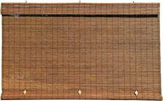 Lewis Hyman - Imperial Matchstick Cord Free Roll-Up Shade, Fruitwood 48 Inches x 72 Inches