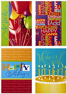 Hallmark Assorted Birthday Greeting Cards (Bright Icons, 12 Cards and Envelopes)