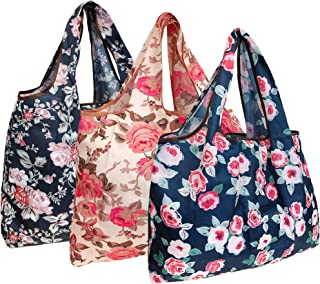 Wrapables Reusable Shopping Bag Large Rose Garden