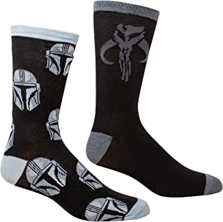 HYP Socks, Star Wars El Mandalorian Casco All Over Print y Mythosaur Sigil Pack de 2 calcetines