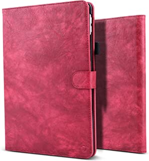New iPad Pro 12.9 2017 Case,B BELK Vintage Luxury Leather Folio Flip Smart Protective Cover Case With Card Slots & Pencil Holder & Magnetic Wake/Sleep For Apple iPad Pro 12.9 Inch 2017 (Red)