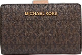 82e1434883f9 Michael Kors Jet Set Travel PVC Signature Bifold Zip Coin Wallet Clutch