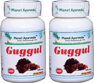 Planet Ayurveda Guggul, 500mg Veg Capsules - 2 Bottles