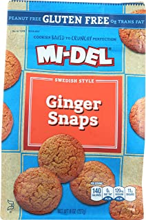 Mi-Del Gluten Free Cookies, Swedish Ginger Snaps, 8 Ounce