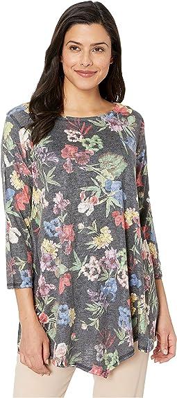 Floral Asymmetric Hem Tunic