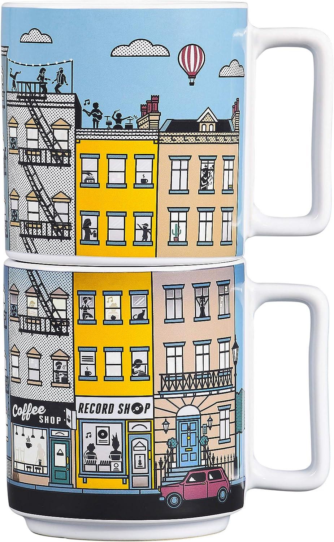 Yes 訳あり Studio 開店記念セール Heat Changing Mugs-City Novelty Ceramic Stacking